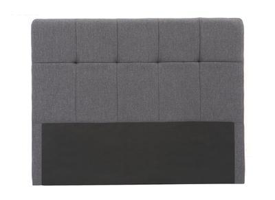 Testiera del letto in tessuto, colore: Grigio scuro, dimensioni: 160cm, modello: CLOVIS