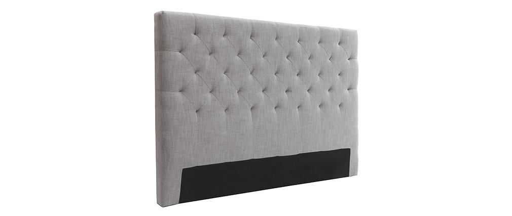 testiera del letto in tessuto Grigio chiaro 140cm ENGUERRAND