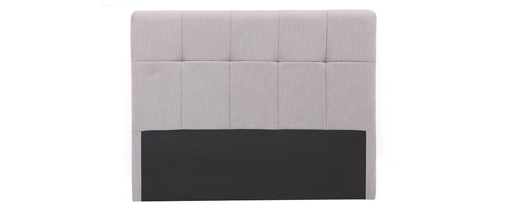Testiera del letto in tessuto Grigio chiaro 160cm CLOVIS