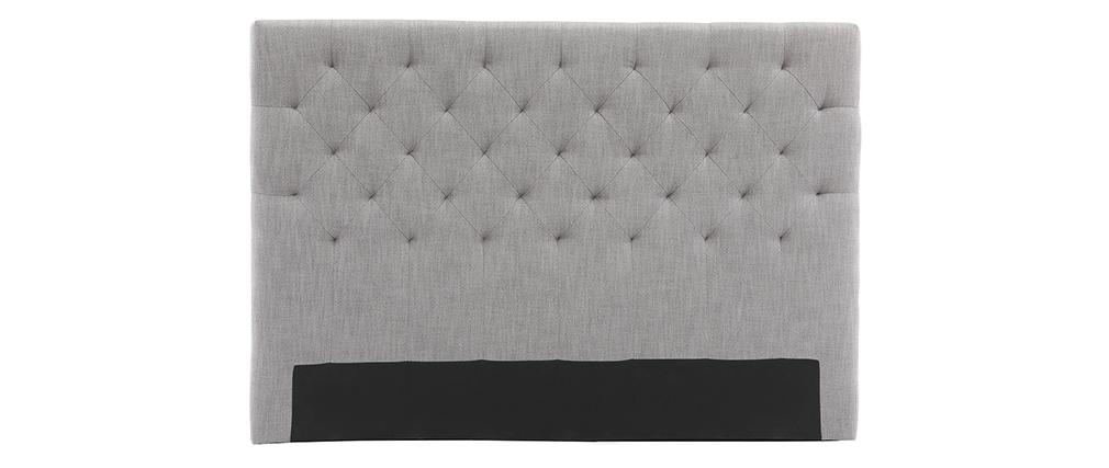 Testiera del letto in tessuto Grigio chiaro 160cm ENGUERRAND