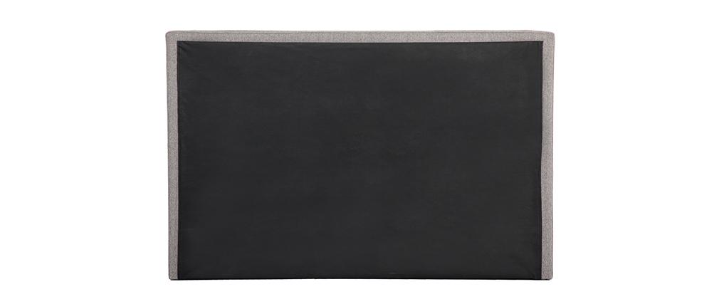 Testiera del letto in tessuto grigio chiaro 170 cm LUTECE