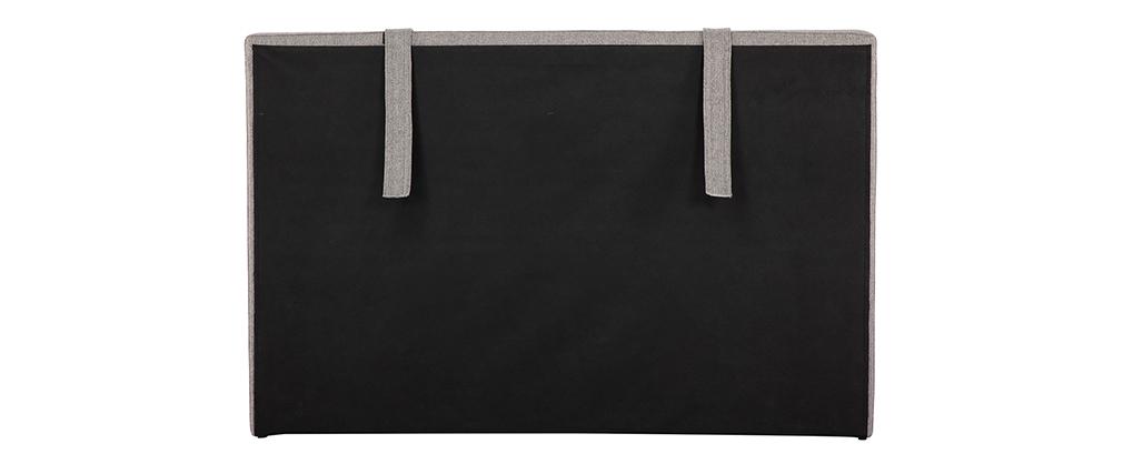 Testiera del letto in tessuto grigio chiaro LORRY