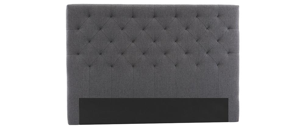 Testiera del letto in tessuto Grigio scuro 160cm ENGUERRAND