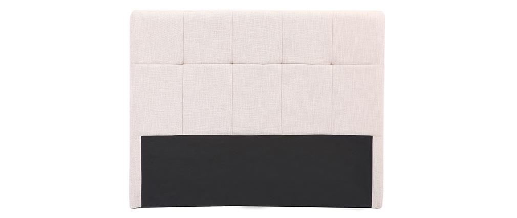 Testiera del letto in tessuto naturale 160cm CLOVIS