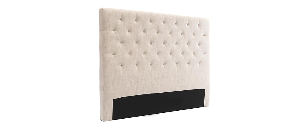 Testiera del letto in tessuto naturale 160cm ENGUERRAND