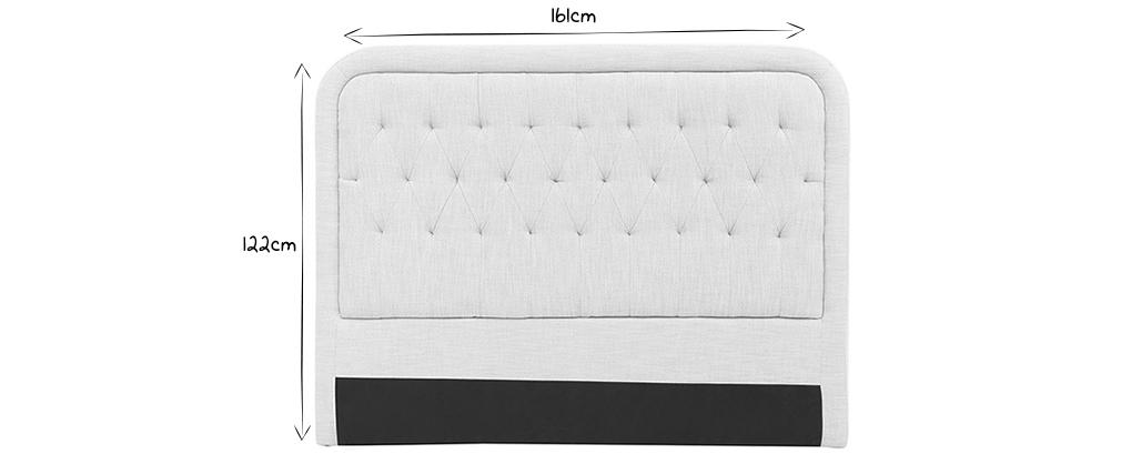 Testiera del letto in tessuto naturale 160cm LOUIS
