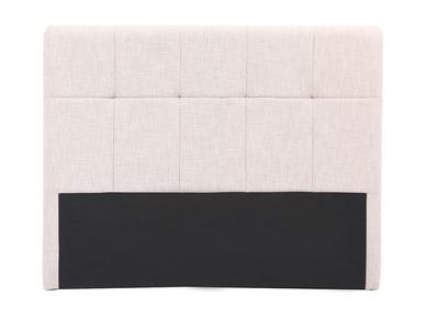Testiera del letto in tessuto naturale, dimensioni: 160cm, modello: CLOVIS