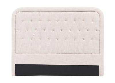 Testiera del letto in tessuto naturale, dimensioni: 160cm, modello: LOUIS