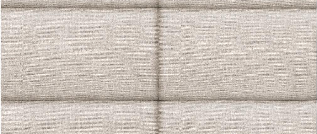 Testiera del letto moderna in tessuto beige naturale 160 cm ANATOLE