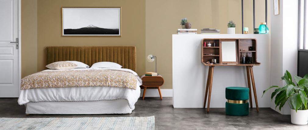 Testiera del letto velluto giallo 177 cm HOTEL