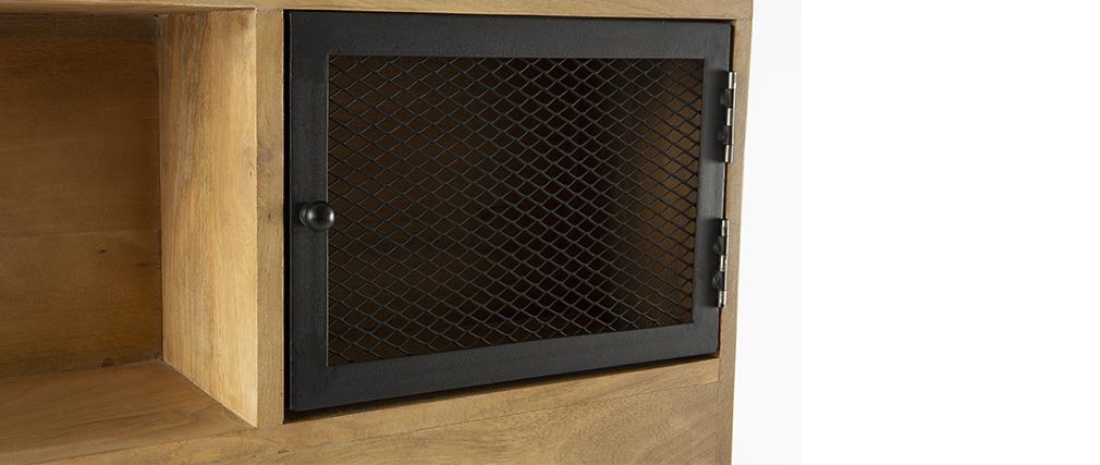Testiera letto industriale con cassetti 160 cm RACK