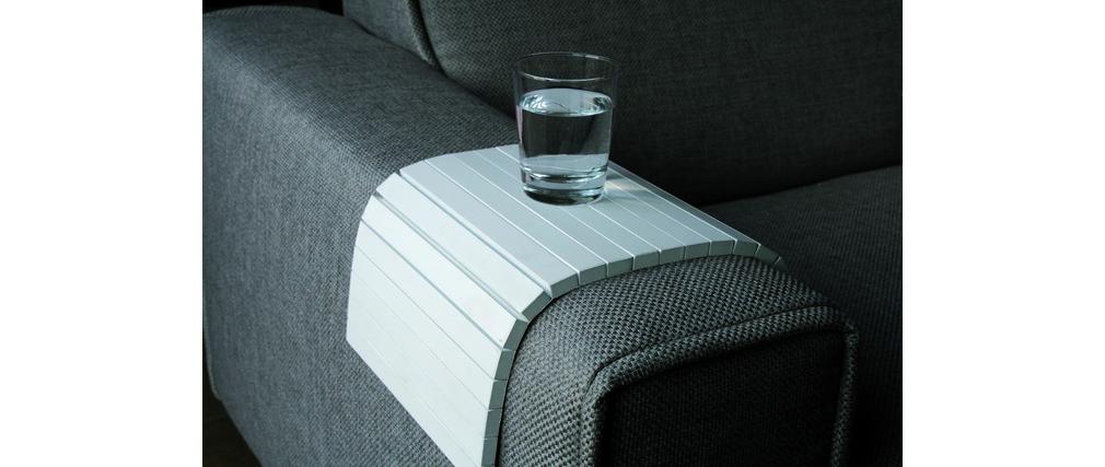 Vassoio copribracciolo per divano FLEX bianco